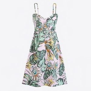 J. Crew Tropical Cami Dress Size XS 0 2
